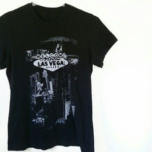 Tops - Las Vegas Strip Black and White T-Shirt